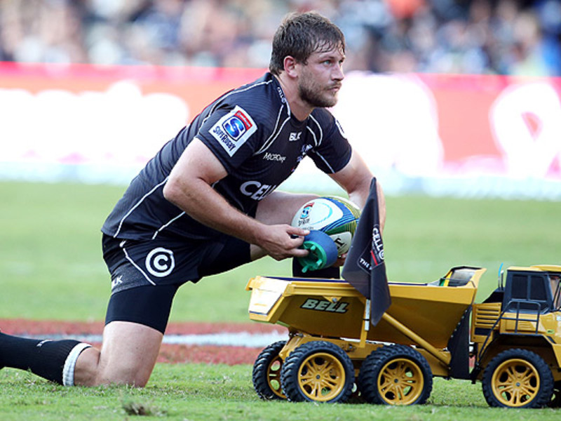 Large frans steyn places ball