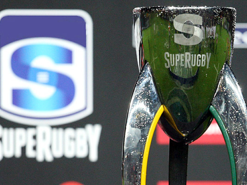 Large super rugby trophy