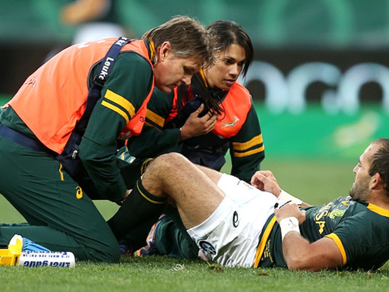 Large fourie du preez injured