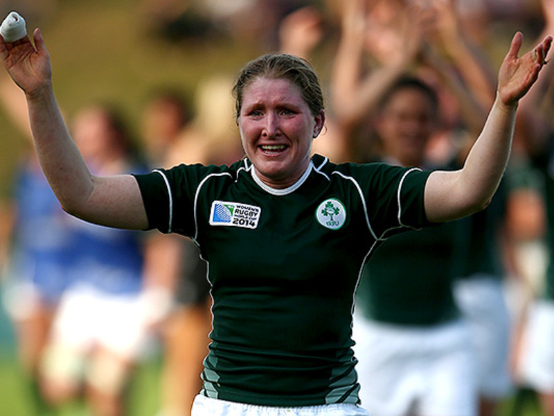 Large ireland women celebrate