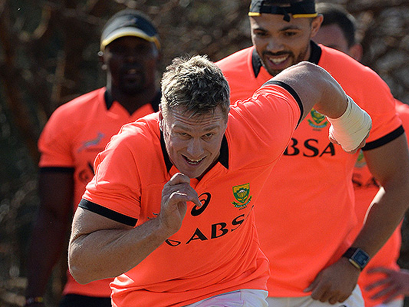 Large jean de villiers bok training