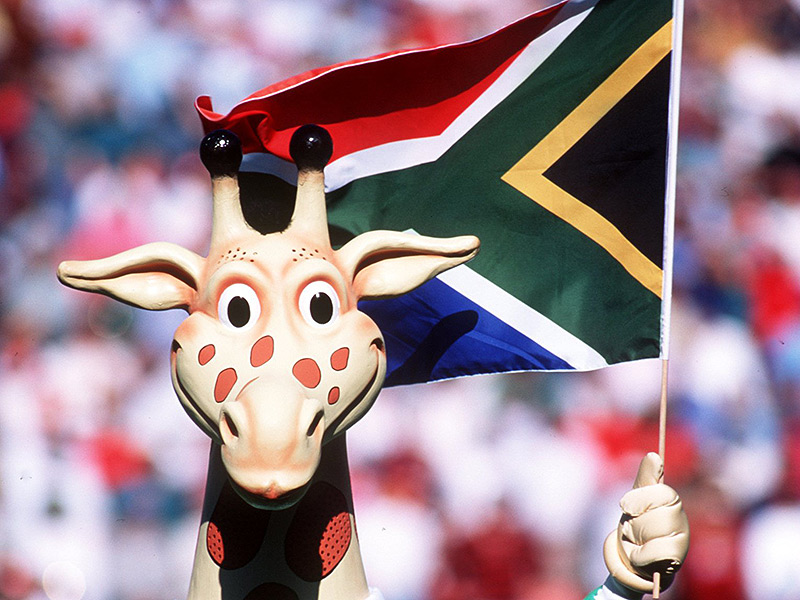 World cup 1995 mascot with flag 800
