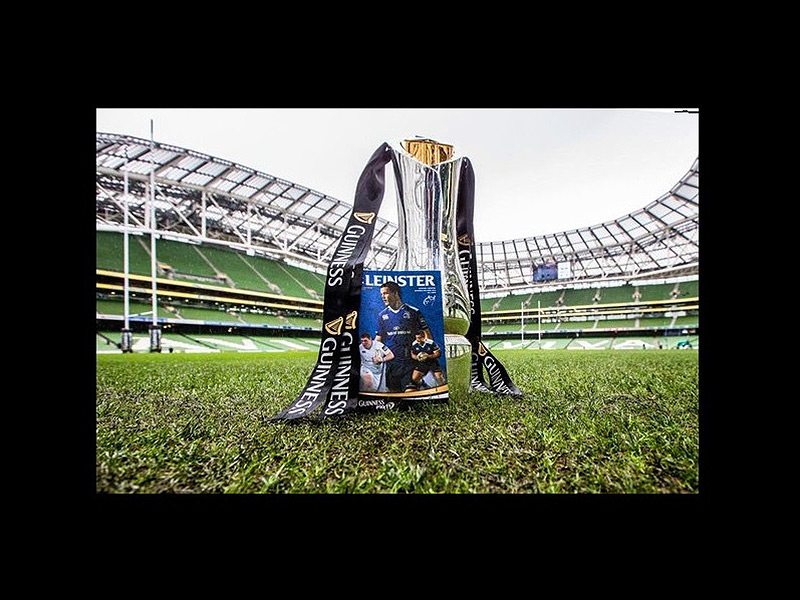Pro12 trophy with leinster programme 800