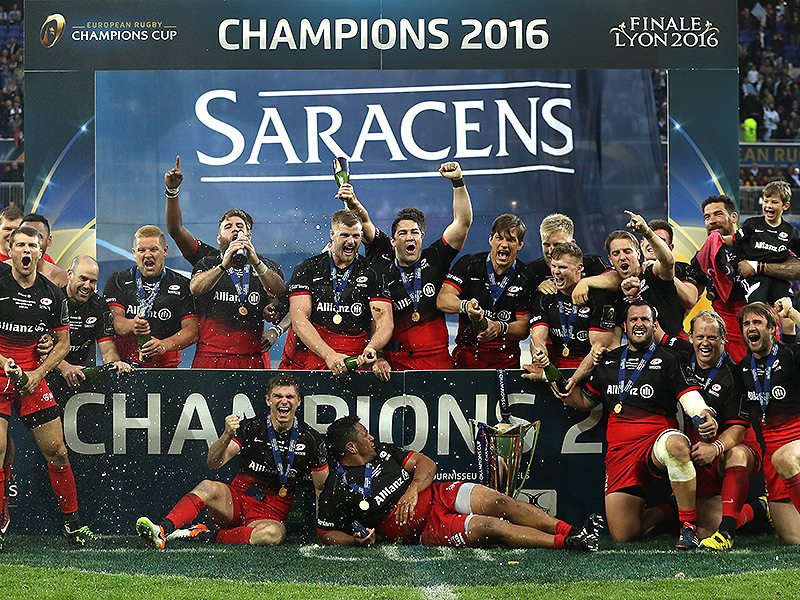 Large saracens celebrate euro cup win 800