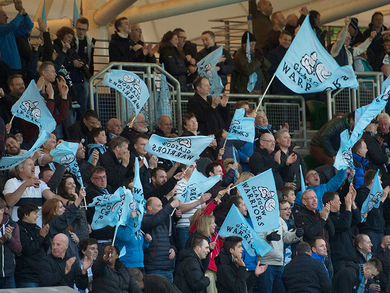 Large glasgow warriors fans 800