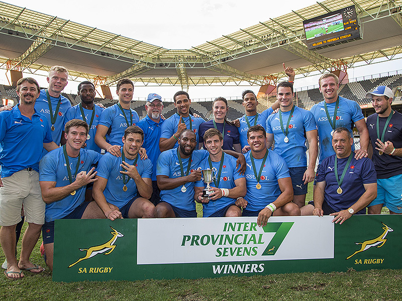 Large blue bulls celebrate 7s win 800