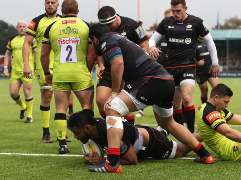 Large saracens v tigers match action 800