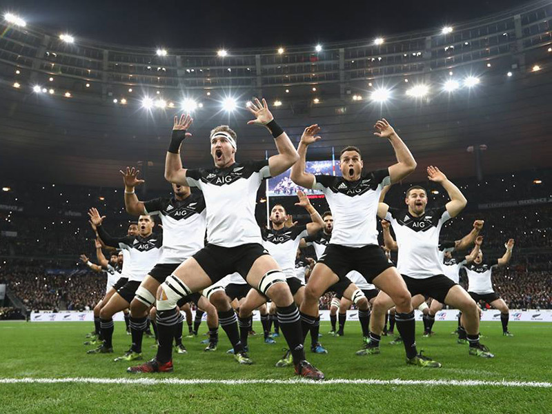 Large all black haka in white 800
