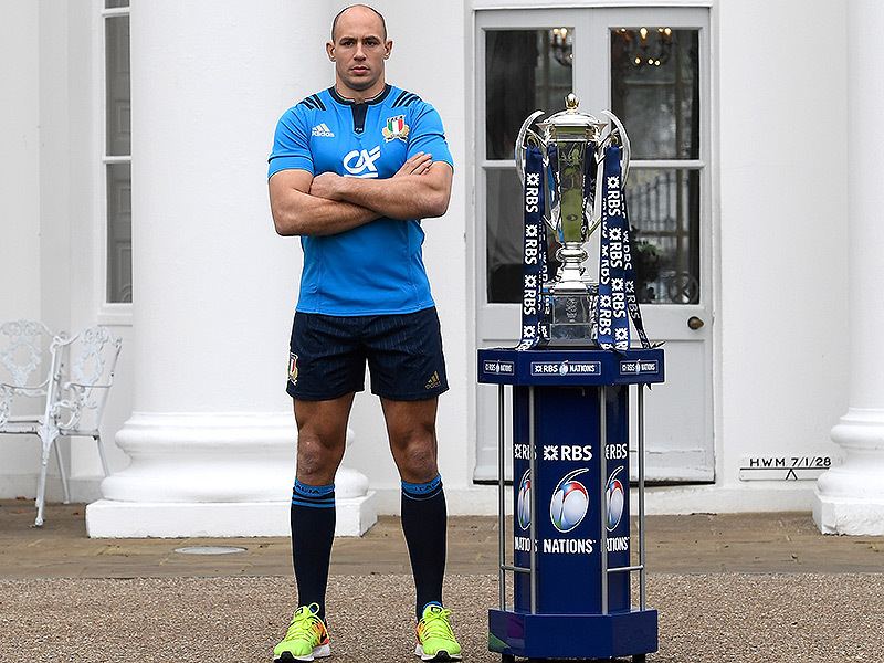Large sergio parisse six nations trophy 800
