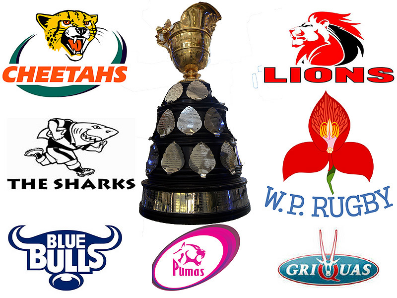 Large currie cup trophy with team logos 800