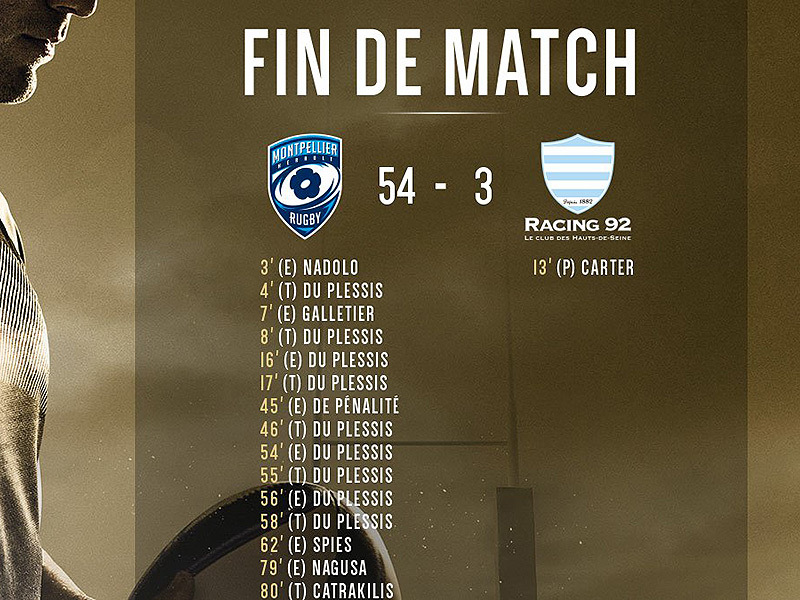 Large montpellier v racing full time 800