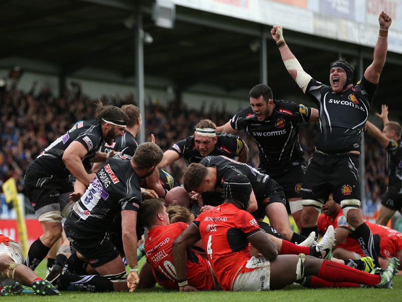 Large exeter chiefs v sarries 800