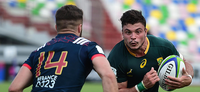 Mc article david brits junior springboks charge 800