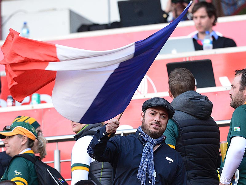 France fan with flag 800