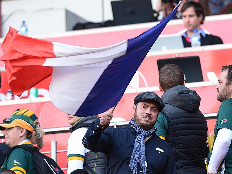 Large france fan with flag 800