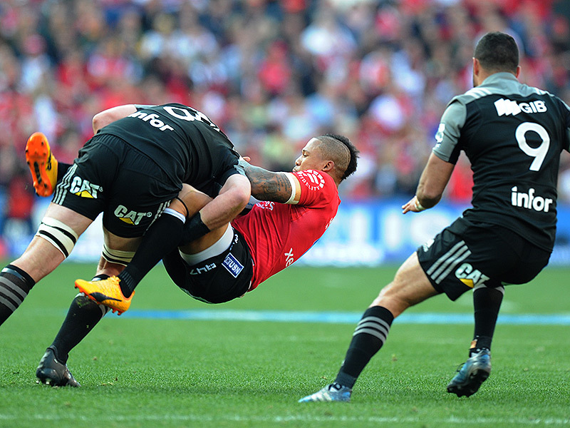 Large lions v crusaders match action 800
