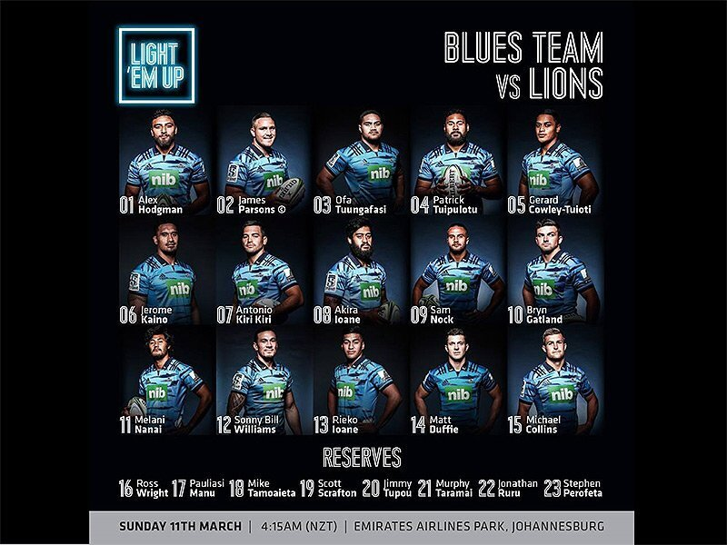 Blues name monster midfield to face Lions