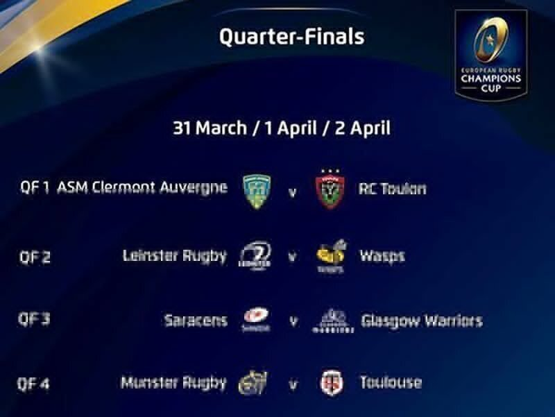 Champions Cup knock-outs confirmed