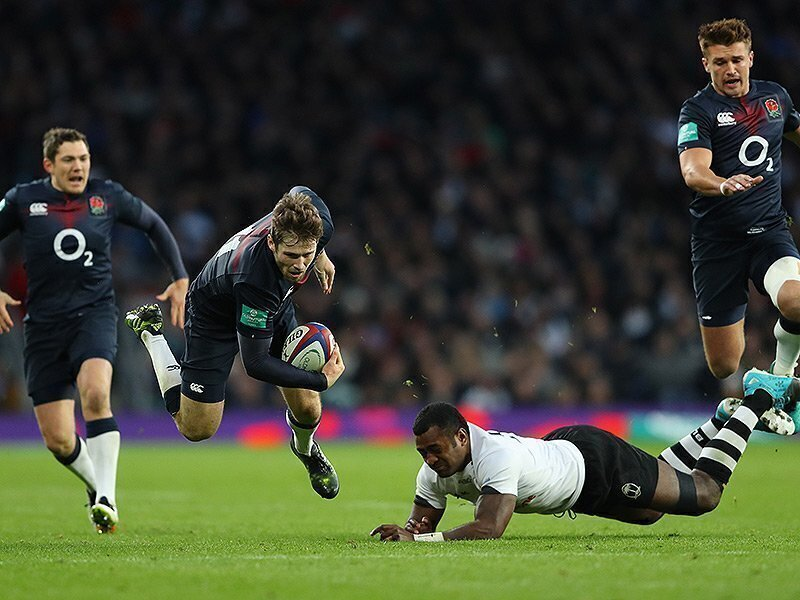 Rokoduguni double as England thrash Fiji