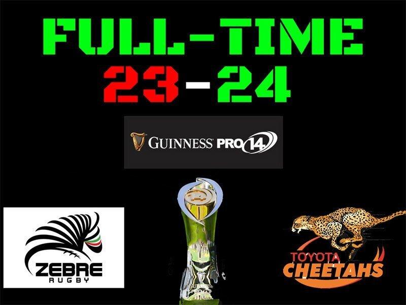 Cheetahs pip Zebre at the death