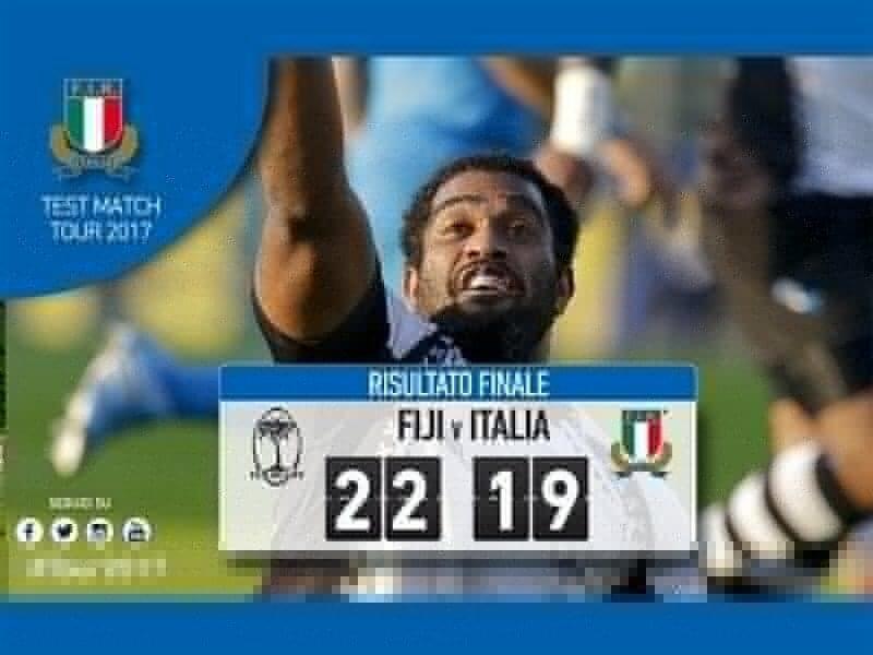 Drop-goal drama as Fiji pip Italy
