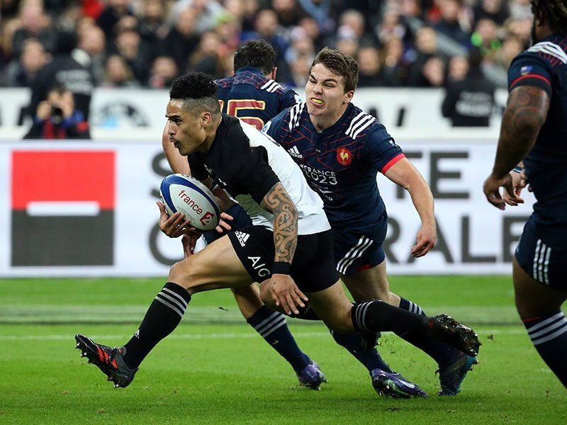 Crotty scores All Blacks' 2000th try in France romp