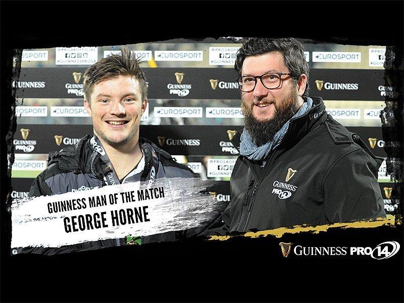 Horne helps Glasgow to bonus-point win