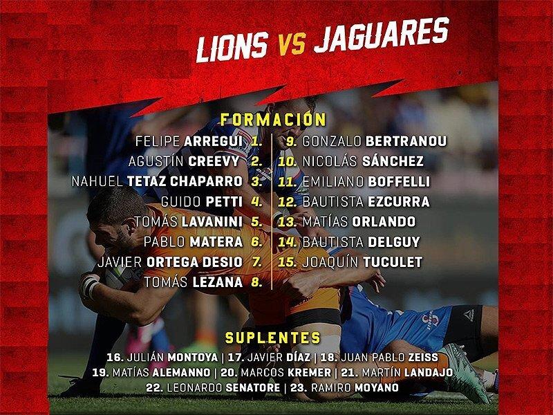 Jaguares change it up for Lions