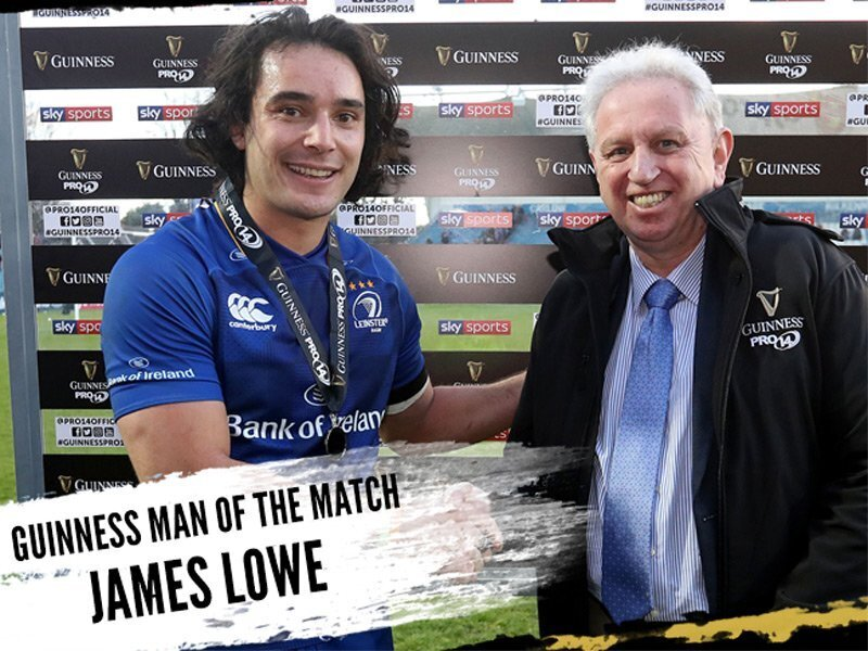 Lowe inspires Leinster to win over Scarlets
