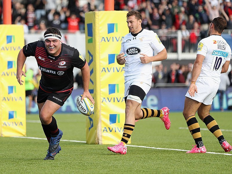 George hat-trick takes Saracens to the top