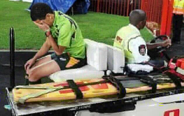 Ref Jaftha Injured