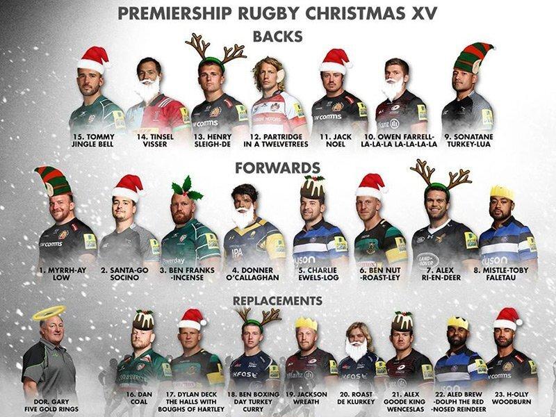 Premiership Christmas XV
