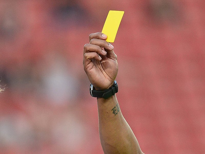 Look who holds record for most yellow cards ...