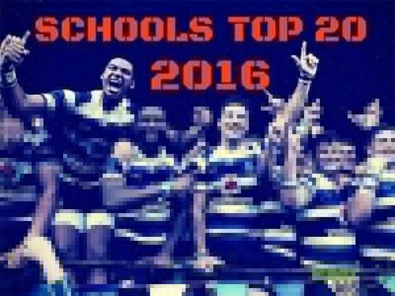 Schools Top 20 - 2016