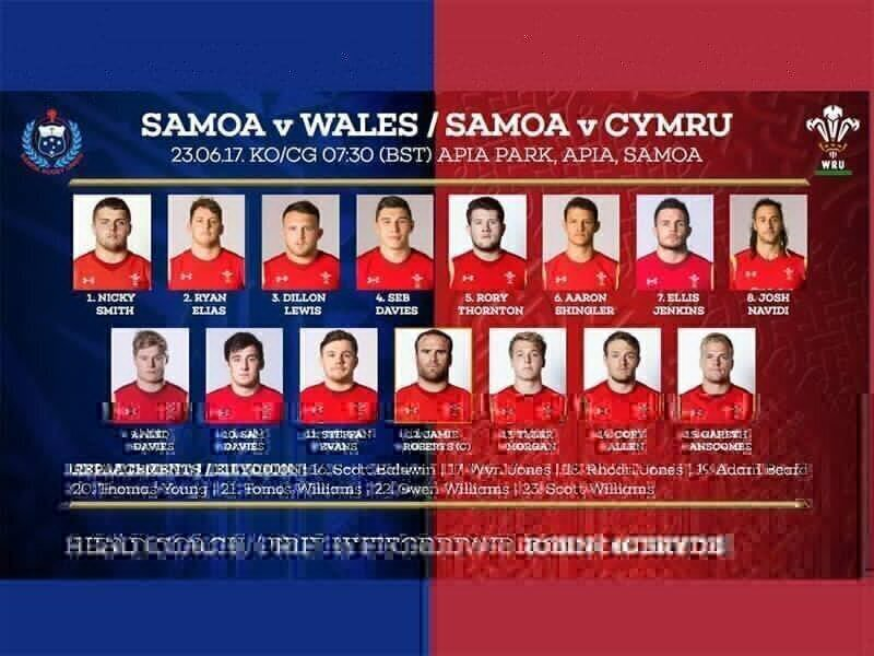 Debut for Thornton against Samoa