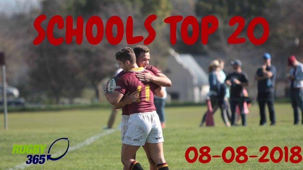 Schools Top 20: August 8