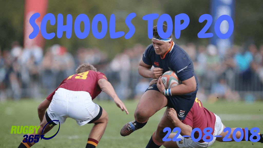 Schools Top 20: August 22