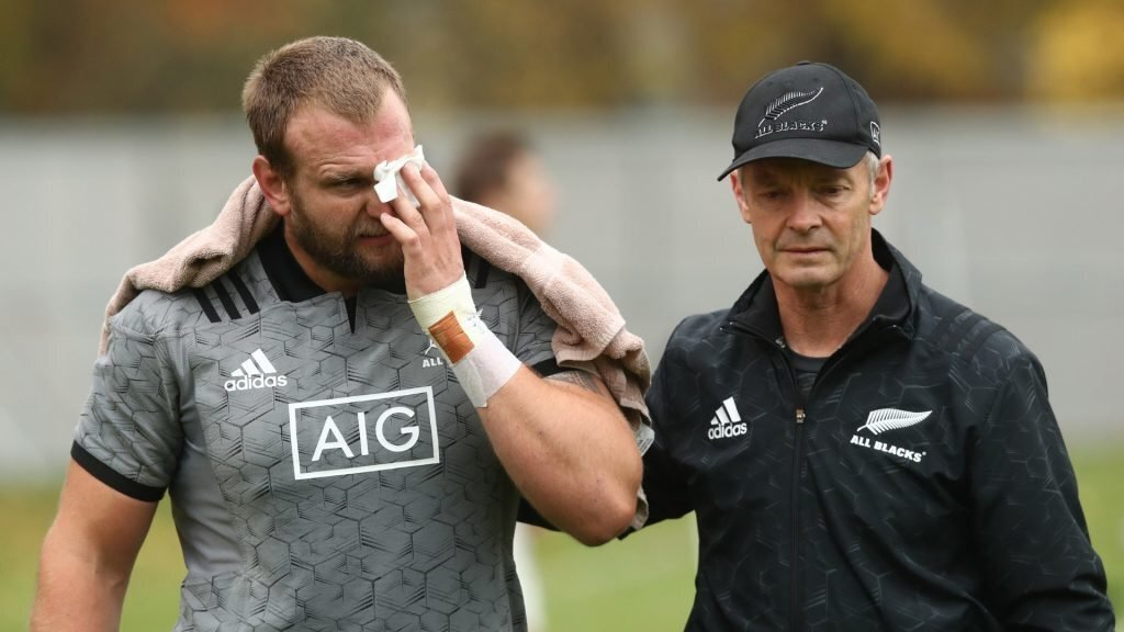 All Blacks star out with gruesome eyelid injury
