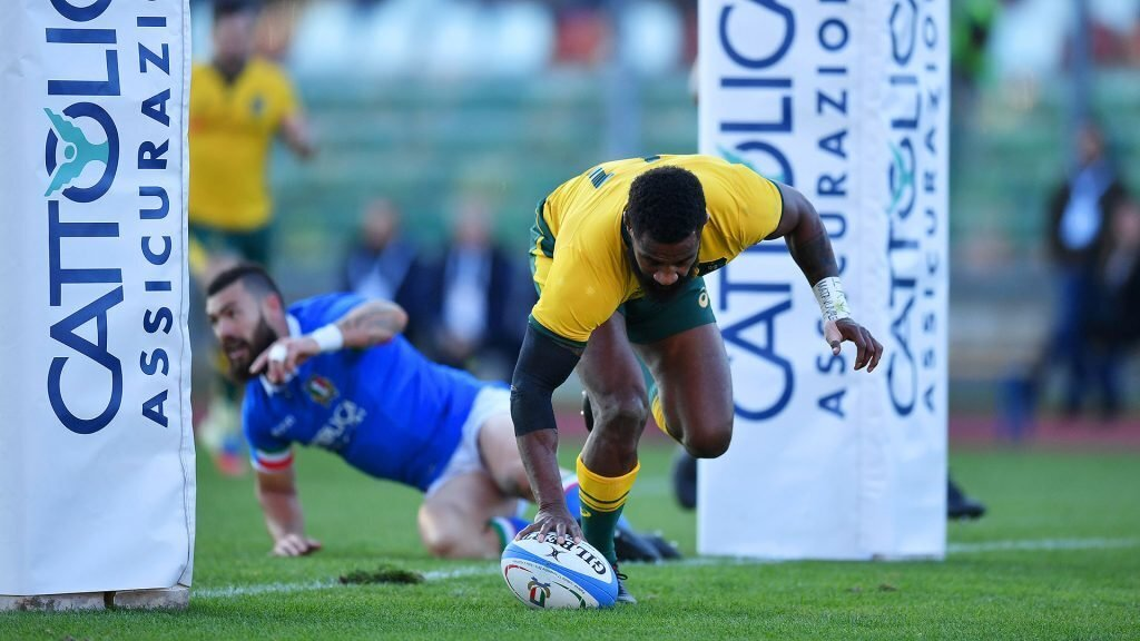 Koroibete double eases Wallabies home