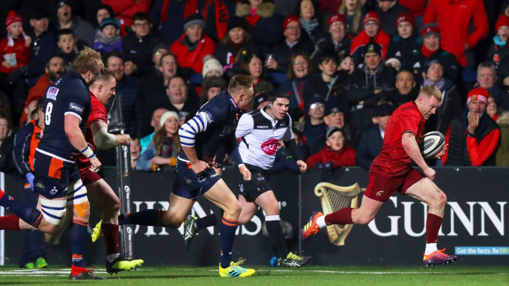 Earls hat-trick sets up Munster rout