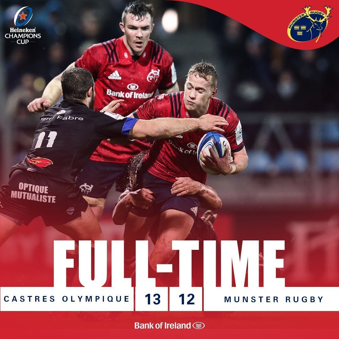 Castres v Munster full-time