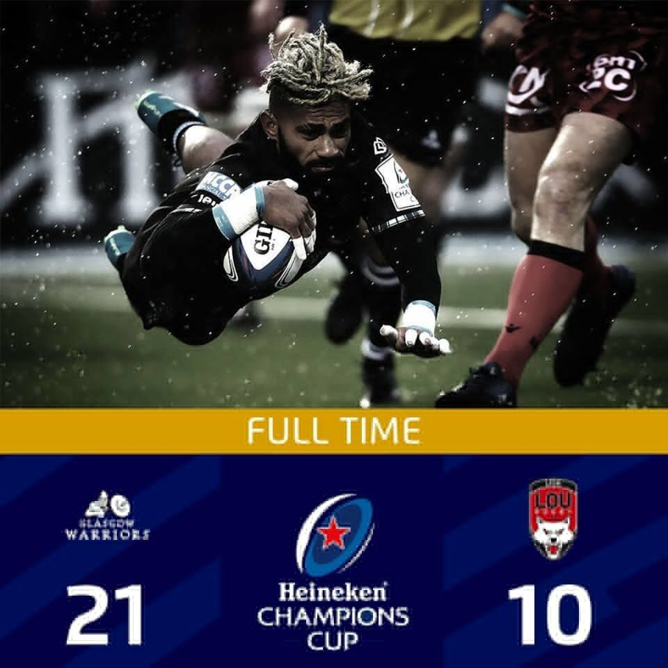 Glasgow v Lyon full-time