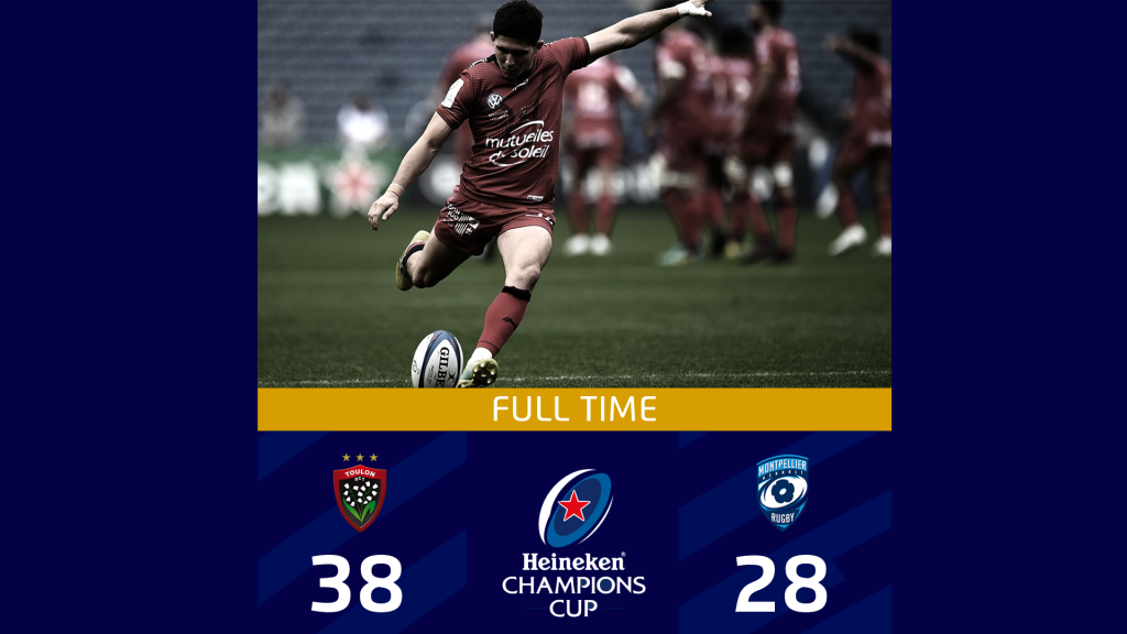 Toulon tops Montpellier in eight-try thriller