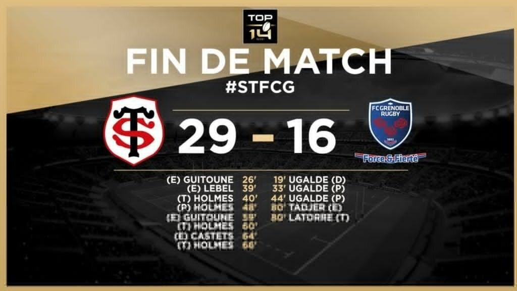 Guitoune guides Toulouse to top of table