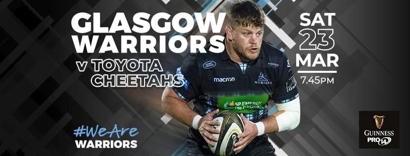 Glasgow Warriors versus Cheetahs
