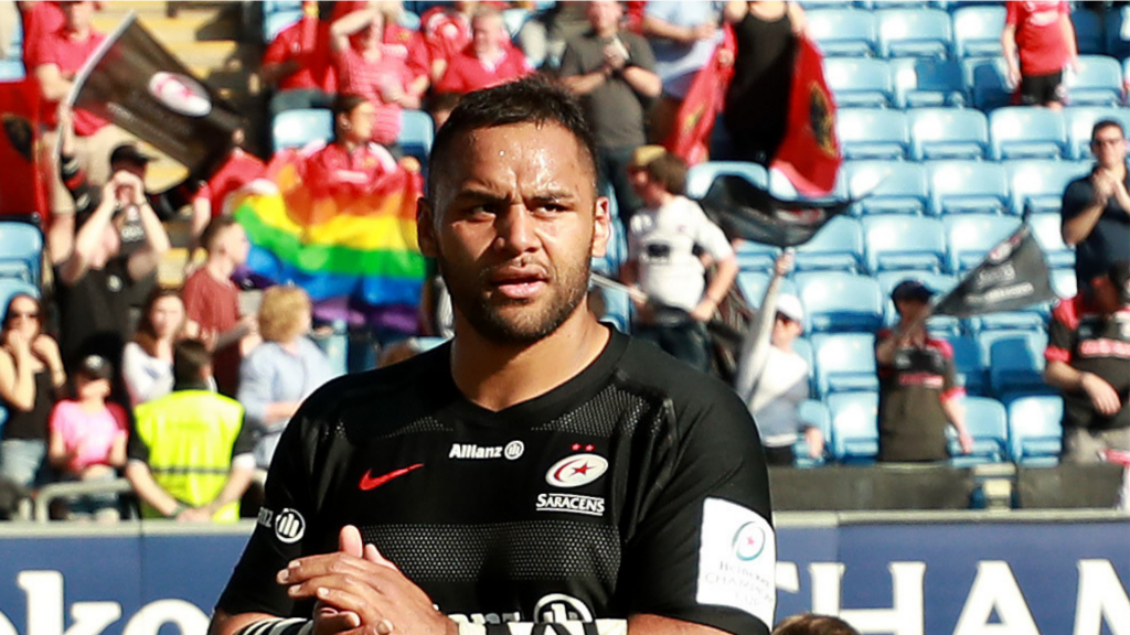 Fan confronts Saracens Vunipola