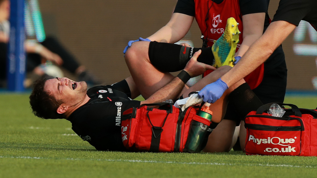 Sarries captain suffers ankle ligament damage