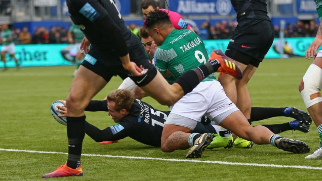 Reigning champs Saracens outclass Falcons