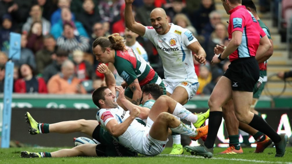 Exeter cruise past troubling Leicester