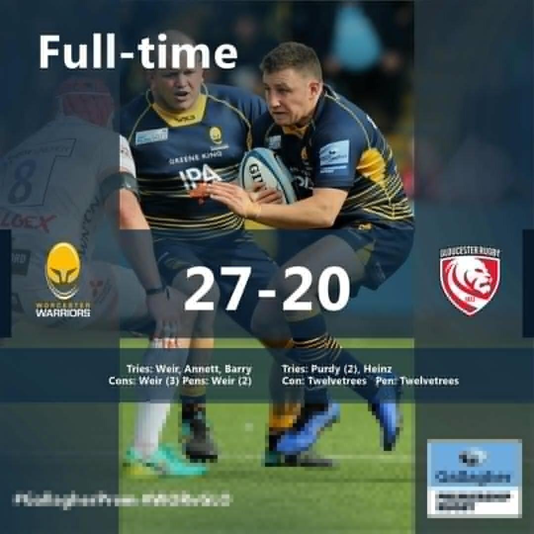 Warriors v Gloucester full-time